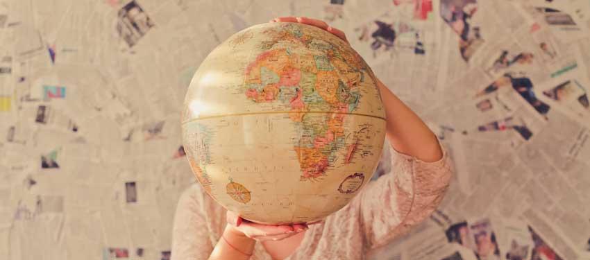 globe terrestre voyages