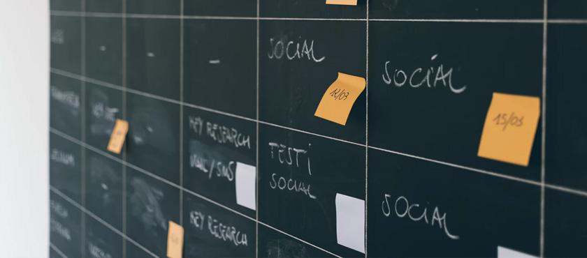 tableau planification social